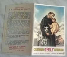 PICCOLO CALENDARIO ANTONIANO 1957  (816) - Calendriers