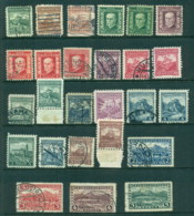 Czechoslovakia 1927-31 Pictorials No Wmk. Asst FU/MLH Lot41047 - Czechoslovakia