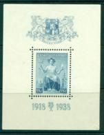 Czechoslovakia 1938 Anniv. Of Independence MS MLH Lot38061 - Czechoslovakia
