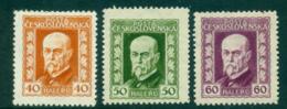 Czechoslovakia 1925/6 40,50,60 Masaryk MLH Lot37992 - Czechoslovakia