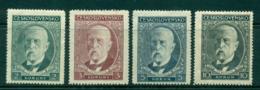Czechoslovakia 1930 Pres. Masaryk 80th Birthday MLH Lot41054 - Czechoslovakia