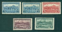 Czechoslovakia 1927-29 Hradcany & Great Tatra Mi#263-6 , Shades MLH Lot37999 - Usati