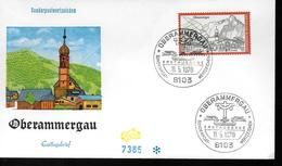 ALLEMAGNE FDC 1970 Oberammergau - Vacances & Tourisme