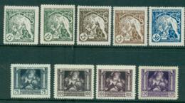 Czechoslovakia 1919 Lion, Mother & Child Charity Inc Shades (9) MLH/MUH Lot37983 - Czechoslovakia