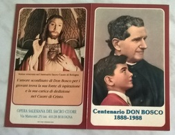 PICCOLO CALENDARIO CENTENARIO DON BOSCO 1888-1988  (820) - Calendriers