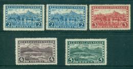 Czechoslovakia 1926-27 Hradcany & Great Tatra Mi#253-6 , Shades MLH Lot37997 - Czechoslovakia