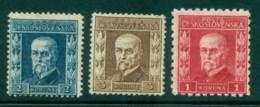 Czechoslovakia 1925 2,3,1 Ty II P13.75, Ty 3 Masaryk MLH Lot37994 - Czechoslovakia