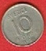 SWEDEN #  10 ØRE FROM 1954 - Suède