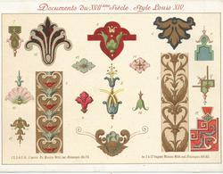 DOCUMENTS DU XVII ° SIECLE - STYLE LOUIS XIV - Meubles