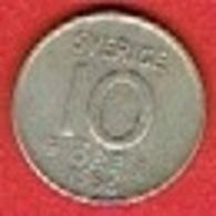 SWEDEN #  10 ØRE FROM 1956 - Suède