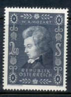 Austria 1956 Mozart Bicentenary MUH - 1945-.... 2nd Republic