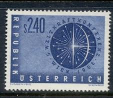 Austria 1956 Power Conference MUH - 1945-.... 2nd Republic