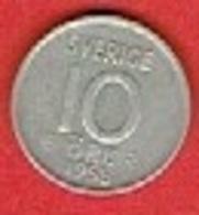 SWEDEN #  10 ØRE FROM 1958 - Suède