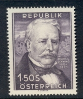 Austria 1954 Moritz Von Schwind MUH - 1945-.... 2nd Republic