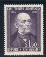 Austria 1954 Karl Von Rokitansky MUH - 1945-.... 2nd Republic