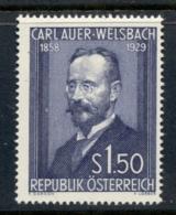 Austria 1954 Karl Von Welsbach MUH - 1945-.... 2nd Republic