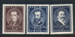Austria 1949 Composers MUH - 1945-.... 2nd Republic