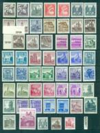Austria 1957-70 Castles, Buildings Asst Prints, Litho, Engr. Typo MUH Lot62224 - 1945-.... 2nd Republic