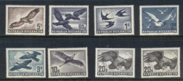 Austria 1950-53 Air Mail Birds, Both 20s Papers MUH - 1945-.... 2nd Republic
