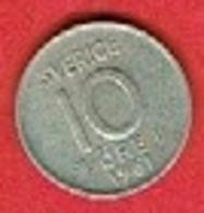 SWEDEN #  10 ØRE FROM 1961 - Suède