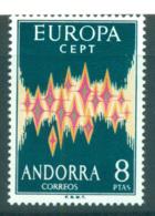 Andorra (Sp) 1972 Europa, Sparkles MUH Lot65532 - Spanish Andorra