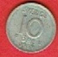 SWEDEN #  10 ØRE FROM 1962 - Suède