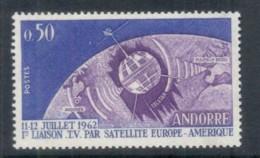 Andorra (Fr) 1962 Telstar Space Satellite MUH - French Andorra