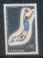 Andorra (Fr) 1970 Field Ball MLH - French Andorra