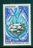 Andorra (Fr) 1969 European Water Charter MUH Lot58456 - French Andorra