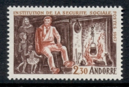 Andorra (Fr) 1967 Social Security System MUH - French Andorra