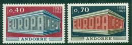 Andorra (Fr) 1969 Europa MUH Lot16004 - French Andorra