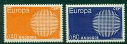 Andorra (Fr) 1970 Europa MUH Lot16005 - French Andorra