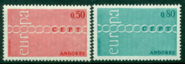 Andorra (Fr) 1971 Europa MUH Lot16006 - French Andorra