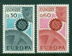 Andorra (Fr) 1967 Europa MUH Lot16002 - French Andorra