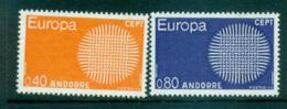 Andorra (Fr) 1970 Europa, Woven Threads MUH Lot65491 - French Andorra