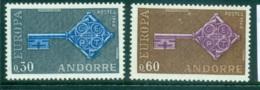 Andorra (Fr) 1968 Europa, Key With Emblem MUH Lot65447 - French Andorra