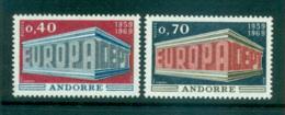 Andorra (Fr) 1969 Europa, Europa Building MUH Lot65465 - French Andorra