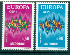 Andorra (Fr) 1972 Europa, Sparkles MUH Lot65531 - French Andorra