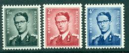 Belgium 1953 1.5,2,4f King Baudouin MH Lot27175 - Unclassified