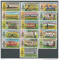 El Salvador 1974 Football Soccer World Cup Set Of 16 With Overprint MNH - Fußball-Weltmeisterschaft