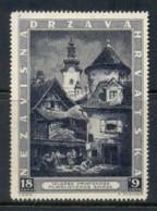 Croatia 1943 Zagreb Stamp Ex MNG - Croatia
