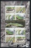 Bosnia & Herzegovina 2010 WWF Green Lizard Sheetlet MUH - Bosnia And Herzegovina