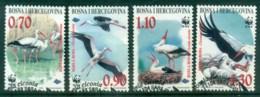 Bosnia & Herzegovina 1998 WWF White Stork FU Lot81575 - Bosnia And Herzegovina