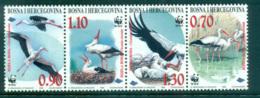 Bosnia & Herzegovina 1998 WWF White Stork Str 4 MUH Lot64014 - Bosnia And Herzegovina