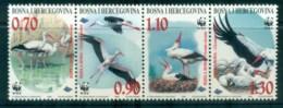 Bosnia & Herzegovina 1998 WWF White Stork Str 4 MUH Lot81574 - Bosnia And Herzegovina