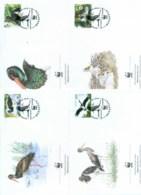 Belarus 2005 WWF Black Stork 4xFDC Lot77063 - Belarus