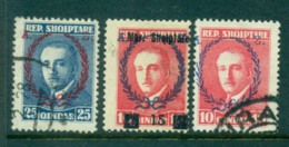 Albania 1925-7 Ahmad Zogu Asst Inc Opts (3) MH/FUlot31003 - Albanie