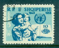 Albania 1959 UN Declaration Of Human Rights CTO Lot69439 - Albania