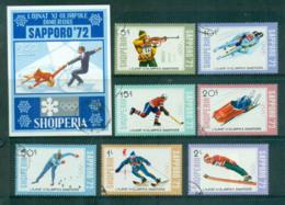 Albania 1972 Winter Olympics Sapporo + MS CTO Lot69750 - Albania