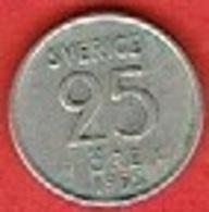 SWEDEN #  25 ØRE FROM 1955 - Suède
